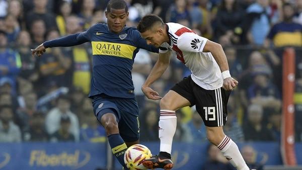 Boca estuvo impreciso y sin claridad en la primera mitad del partido (Nicolás Aboaf)
