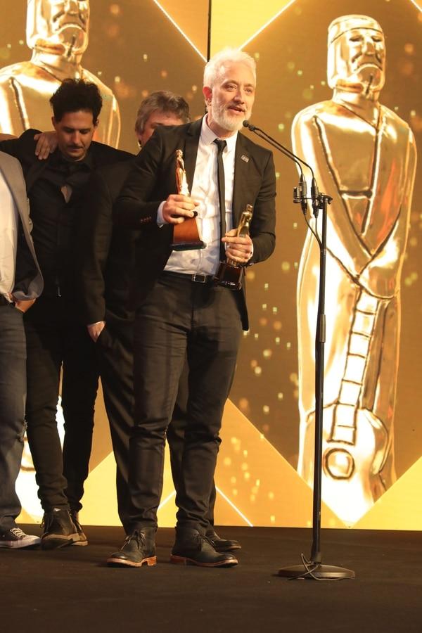 Andy Kusnetzoff se llevó el premio Martín Fierro de Radio de oro (Christian Bochichio)