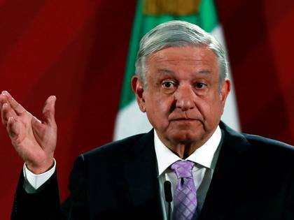 FILE PHOTO: Mexico's President Andres Manuel Lopez Obrador attends a news conference at the National Palace in Mexico City, Mexico February 18, 2020. REUTERS/Henry Romero/File Photo
