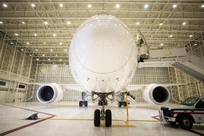 El avión presidencial después de su regreso a México (Foto: Cortesía Presidencia)