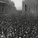 Mandatory Credit: Photo by Historia/Shutterstock (9822980a) Crowds Observing the Two Minute's Silence On Armistice Day 11 November 1920 Outside Mansion House in the City of London. . Unattributed Photograph in the Illustrated London News, 20 November 1920 Two Minute's Silence at Mansion House, 1920