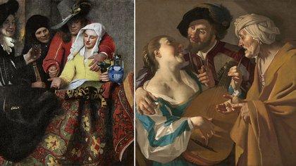 """""""La alcahueta"""" según Vermeer y Dirck van Baburen"""