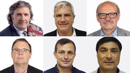 Los diputados José Luis Ramón, Andrés Zottos, Luis Di Giacomo, Diego Horacio Sartori, Eduardo Bali Bucca y Pablo Ansolini