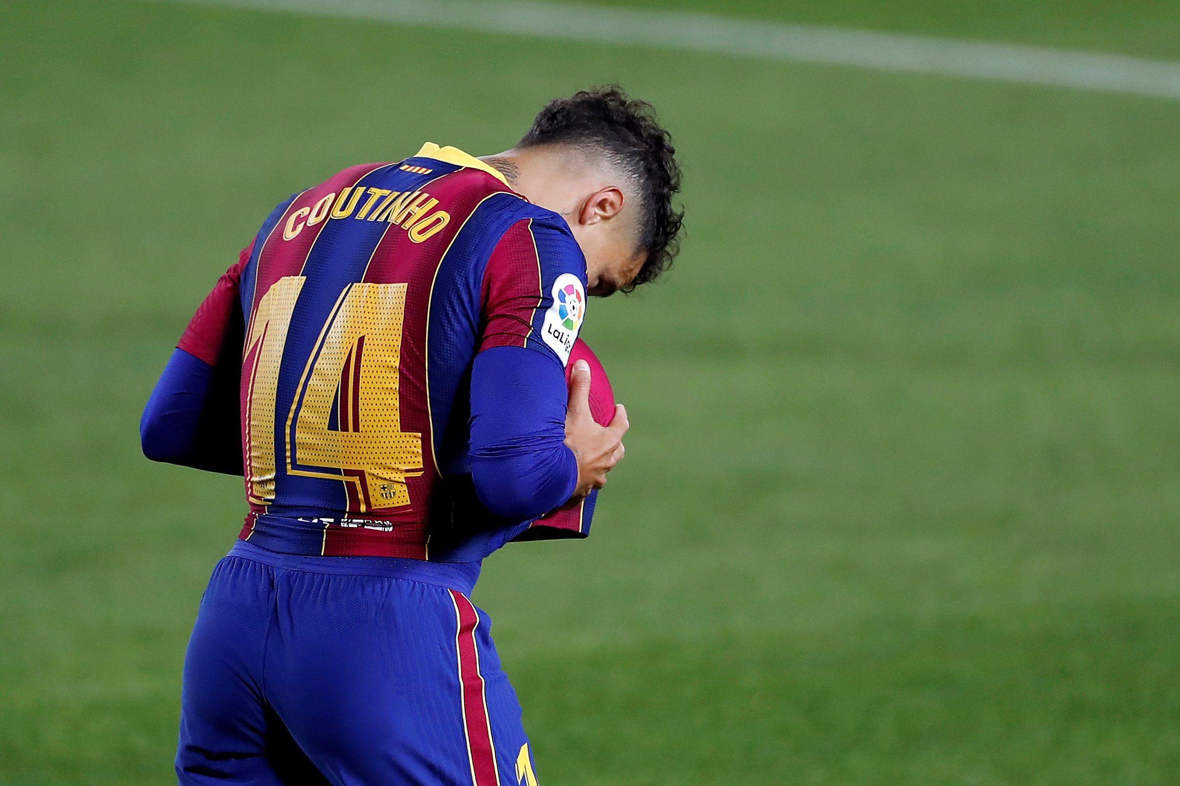 El centrocampista brasileño del FC Barcelona Philippe Coutinho. EFE/Alberto Estévez/Archivo
