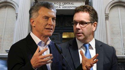 El presidente Mauricio Macri y Guido Sandleris, presidente del Banco Central