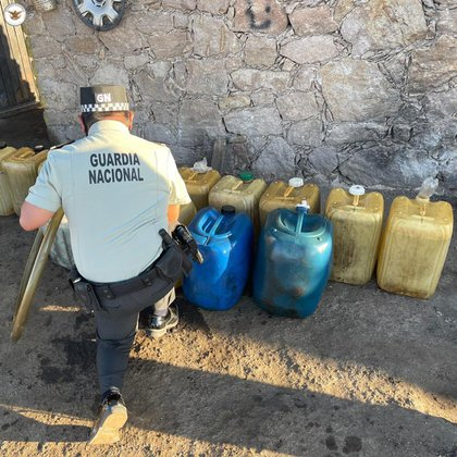GN ensures the sale site of 'huachicol' (Photo: National Guard)