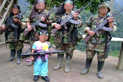 Imagen de referencia del reclutamiento forzado en menores de edad. - Colprensa.