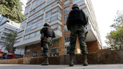 El edificio de departamentos en el que fue detenido el presunto sucesor de El Chapo. Foto: Reuters