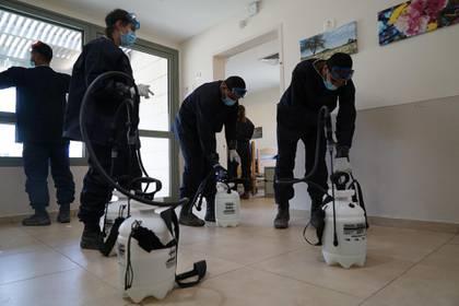 Los soldados también se encargan de la desinfección en hospitales (FDI)