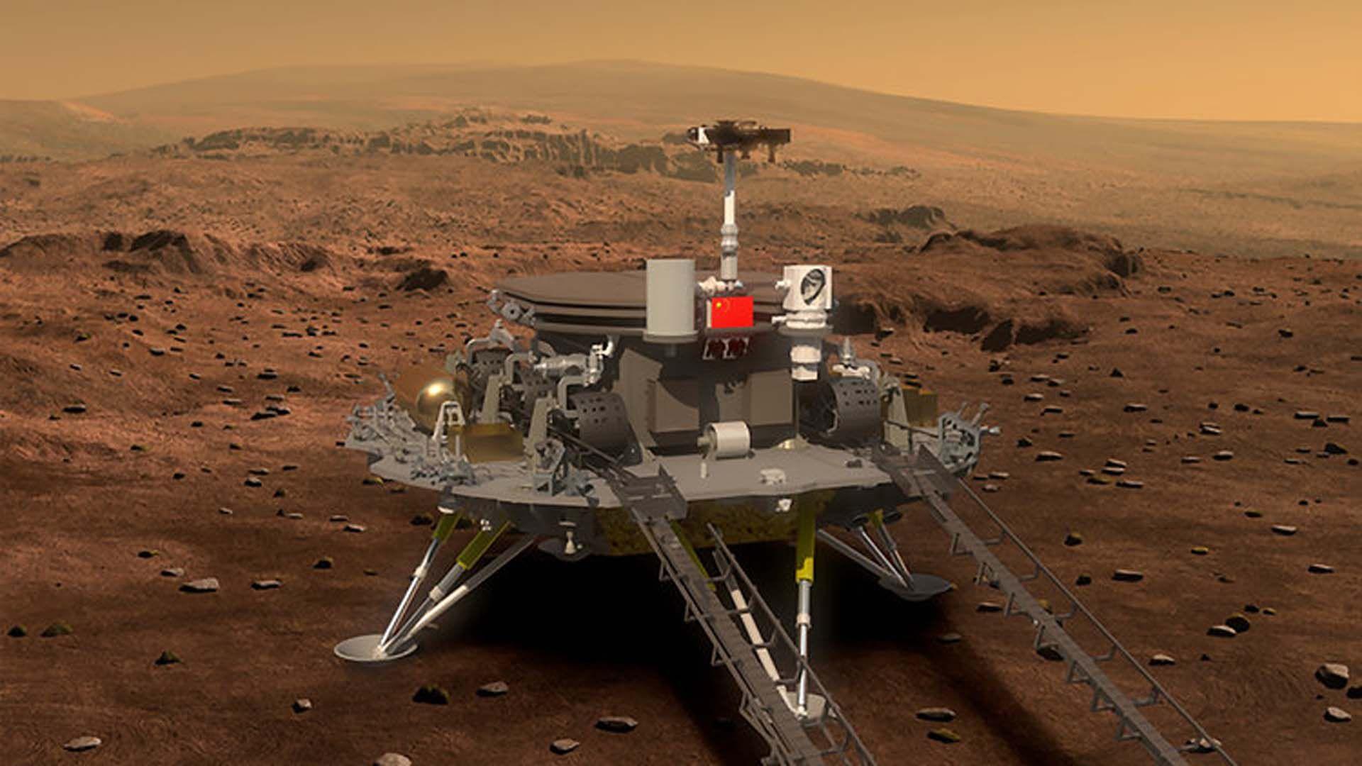 La misión HX-1 de China tiene planeado buscar rastros de vida microscópica (Agencia Espacial China)