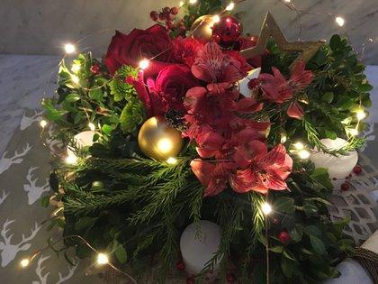 Las luces decorativas son distintivas de la Navidad (Patricia Castro Flores)