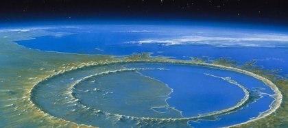 El cráter de Chicxulub, en Yucatán (México) (AGENCIA ESPACIAL MEXICANA)