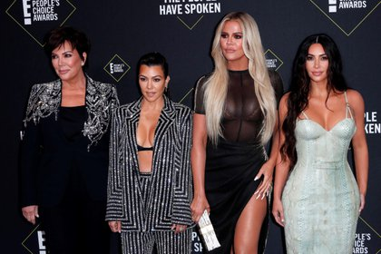 Kris Jenner, Kourtney Kardashian, Khloe Kardashian y Kim Kardashian West ( EFE)