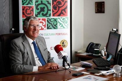 28/09/2020 El Embajador de Portugal en España, João Mira-Gomes, durante una entrevista con Europa Press en la Embajada de Portugal, en Madrid (España) a 28 de septiembre de 2020. POLITICA  Oscar J. Barroso / Europa Press