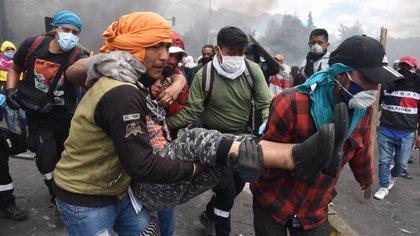 La Defensoría del Pueblo de Ecuador reporta siete muertos en las protestas (Franco Fafasuli)