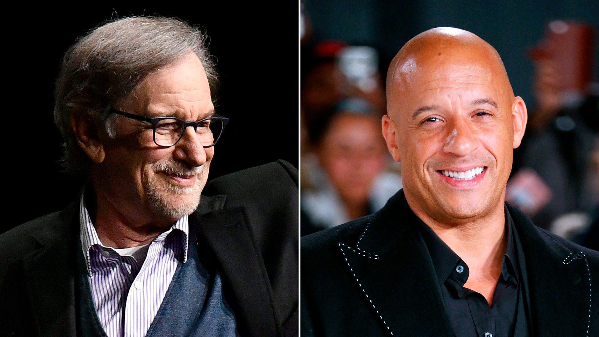 parejas juntos Steven Spielberg Vin Diesel