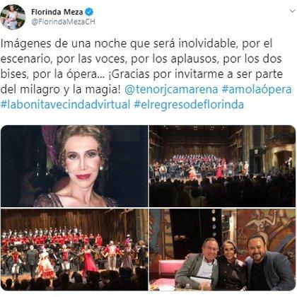 La actriz reconoció que con su llegada a este espectáculo cumple uno de los sueños que ha fomentado desde la infancia (Foto: Twitter)