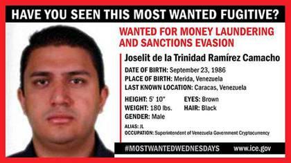 EEUU ofrece 5 millones de dólares por la captura de Joselit de la Trinidad Ramírez Camacho