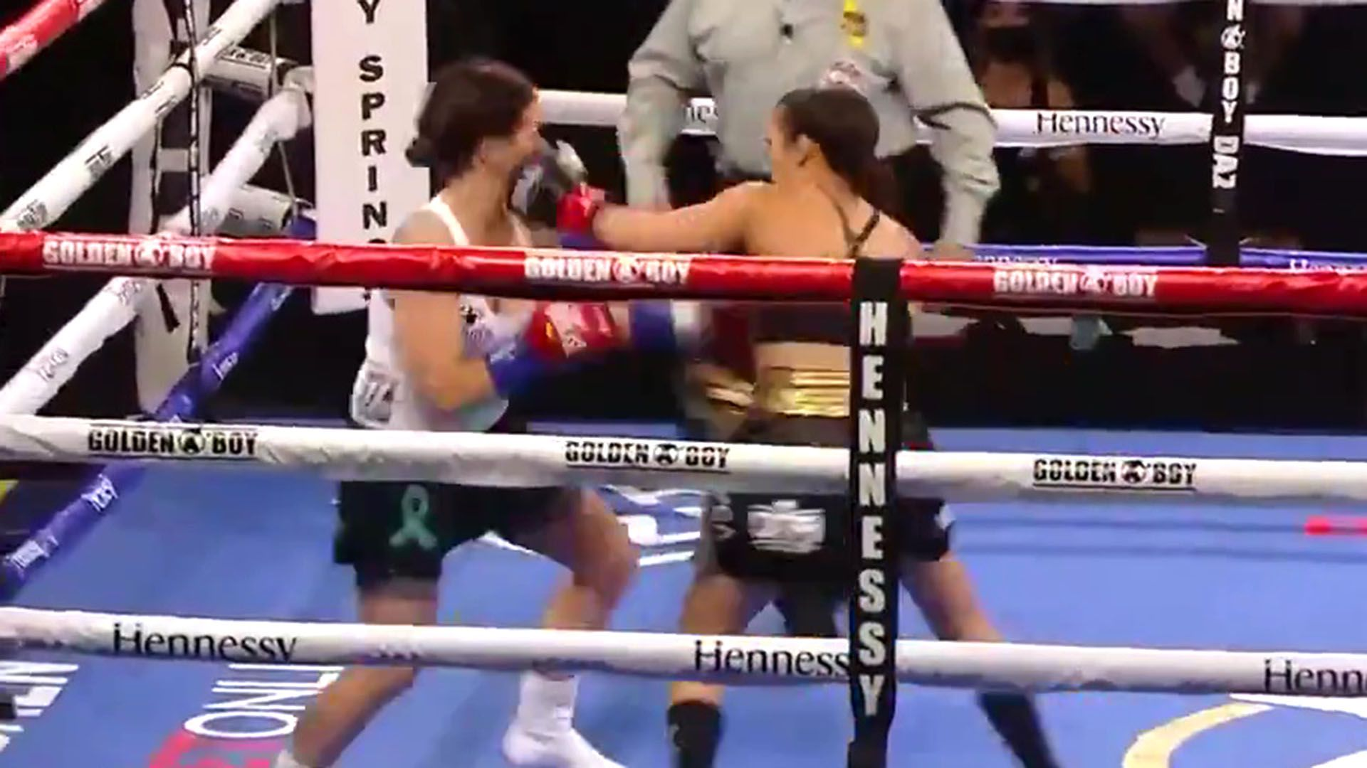 Historico KO de Seniesa Estrada en solo 7 segundos captura