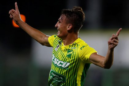 Defense and Justice are undefeated in the South American Cup and have Braian Romero, scorer of the tournament with 9 goals (EFE / Natacha Pisarenko)