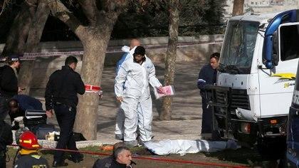 En el brutal ataque con camión murieron cuatro cadetes y 17 resultaron heridos (Reuters)