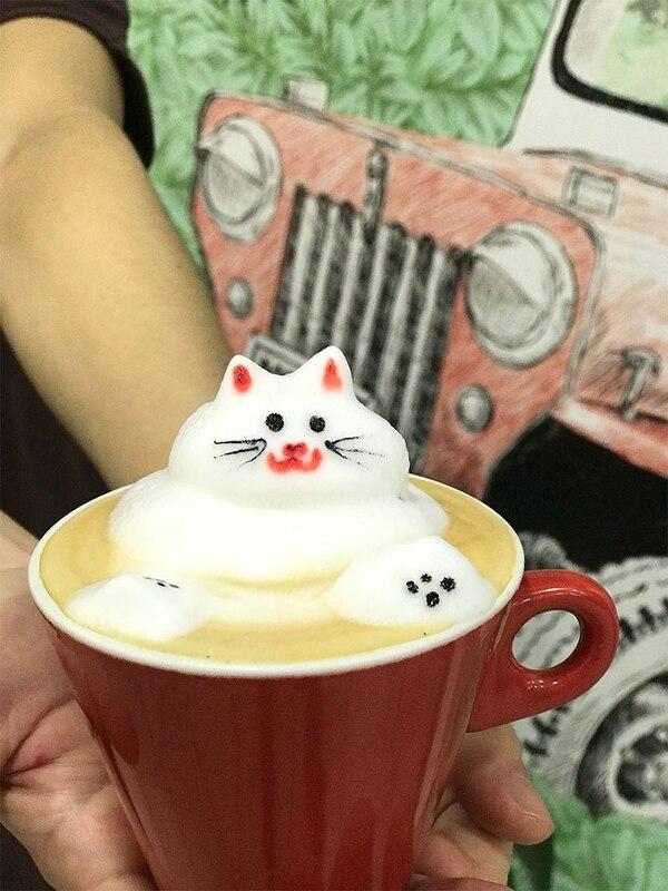Caramel Cat 3D, la innovadora manera de presentación para los clientes en Café Haus