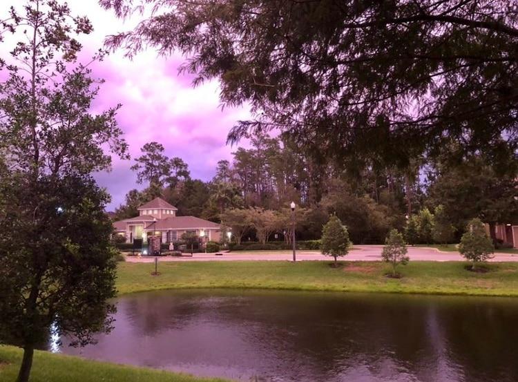Los residentes de distintas partes de Florida publicaron en sus redes sociales diversas instantáneas para documentar el hermoso color que tomó el cielo tras el paso de la tormenta (Foto: Twitter)