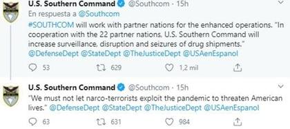 Los mensajes del Comando Sur