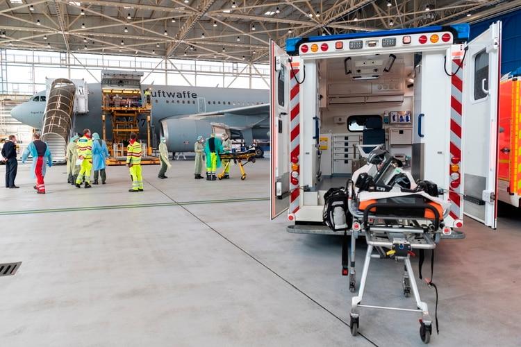 Una foto del A310 (Foto: EFE/EPA/KEVIN SCHREIB/Twitter @Team_Luftwaffe)
