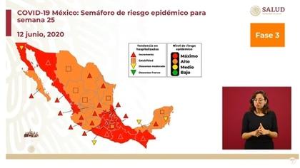 Semáforo de riesgo epidémico en México (Foto: SSa)