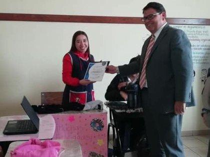 Jessi fue promotora para que se le diera una posada a los niños y niñas del Albergue Escolar Rural Foto: Fb Selene Vázquez Alatorre