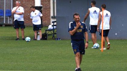 Miguel Ángel Russo ya tiene el equipo que marcará su debut como DT de Boca (Foto: Maximiliano Luna)