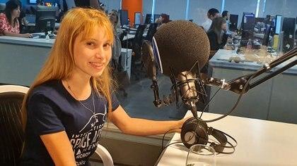 Priscila López, una de las integrantes del proyecto de Alquid, durante la entrevista para la plataforma de podcasts de Infobae