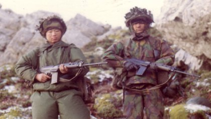 Los Gurkas llegaron a Malvinas el 1 de junio de 1982