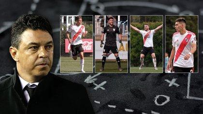 Lucas Beltrán, Federico Girotti, Augusto Aguirre y Franco Petroli, cuatro juveniles que Marcelo Gallardo seguirá de cerca