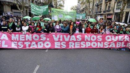 Marcha Ni una menos de 2017 (Foto: Gustavo Gavotti)