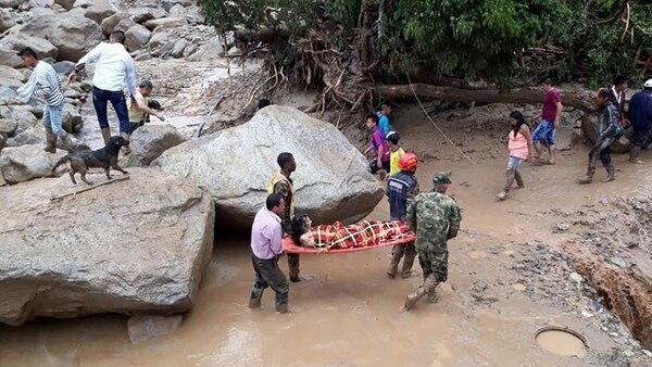 Hay más de 5 mil damnificados por las fuertes lluvias (EJÉRCITO DE COLOMBIA)