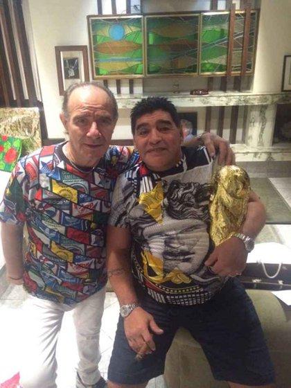 Banana Mascheroni y Diego Maradona (Foto: Twitter)