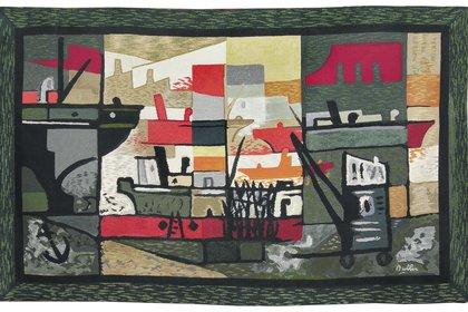"Horacio Butler. ""Puerto"". Tapiz. 140 x 220 cm. (MAT)"