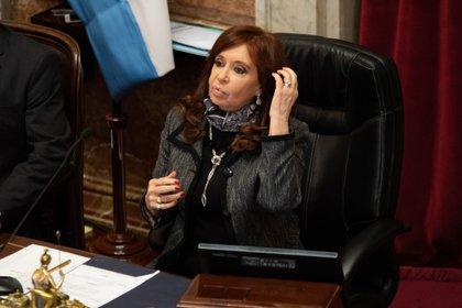 Cristina Kirchner durante una sesión en el Senado (Foto: Franco Fafasuli)