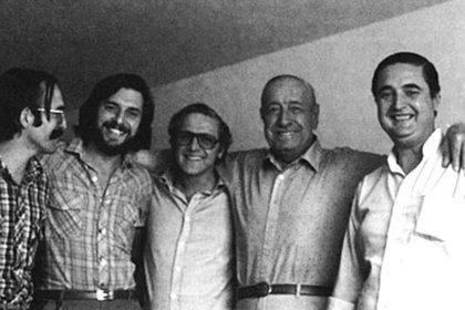 Esteban Righi junto a Héctor Cámpora en los 70
