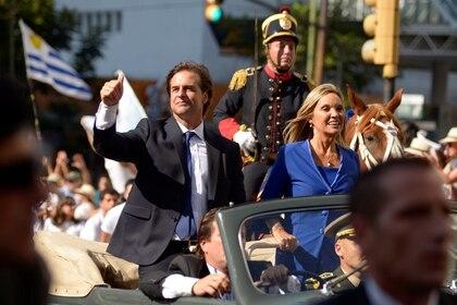 El 1 de marzo de 2019, el día que asumió como vicepresidenta de Uruguay.