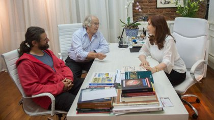 Grabois con CFK y Pérez Esquivel (NA)