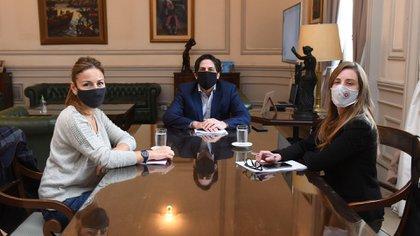 Acuña se reunió el viernes con el ministro de Educación, Nicolás Trotta, y su par de provincia de Buenos Aires, Agustina Vila