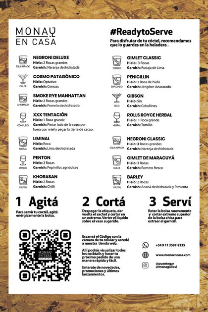 Código QR en el menú de Mona Gallosi