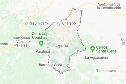 El lider del CJNG nació en el municipio de la Aguililla, Michoacán (Foto: Google Maps)