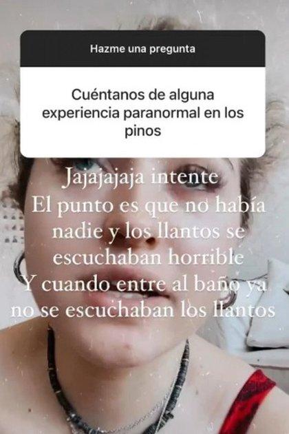 Fernanda Castro, la hija de Angélica Rivera, contó una anécdota paranormal que vivió en Los Pinos