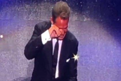 Luis Miguel lloró en uno de los conciertos de su gira (Captura Instagram: yiddaslavap)