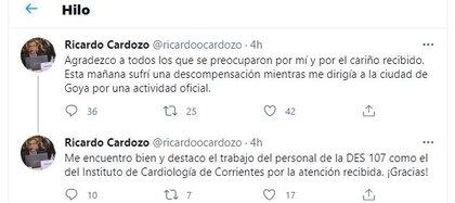 La explicación del ministro de Salud de Corrientes en redes sociales.