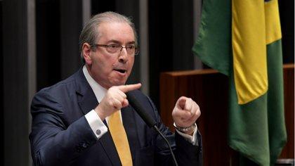 Eduardo Cunha, ex presidente de la Cámara de Diputados, al impulsar el impeachment contra Dilma Rousseff (AFP)